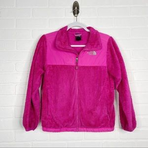 The North Face Girls Pink Zip-Up Jacket Large